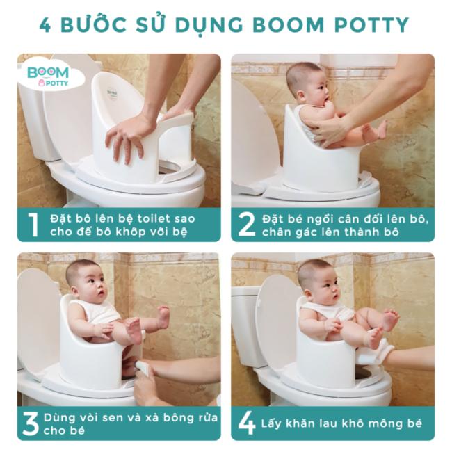 4 buoc su dung boom potty