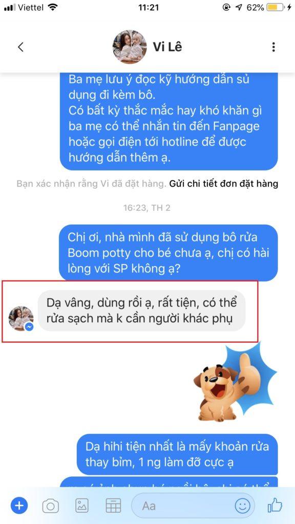 Feedback bô vệ sinh cho bé Boom Potty