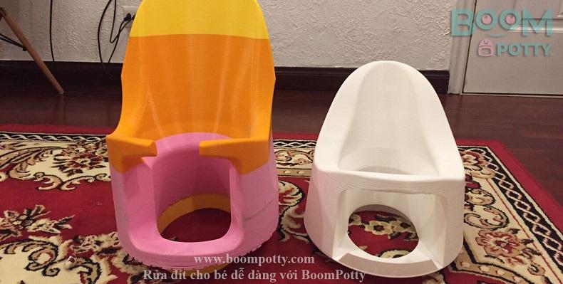 Boom potty không có khay, liệu có ngồi trong nhà được không?
