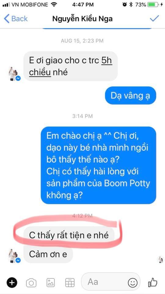 Review danh gia bo ve sinh Boom Potty