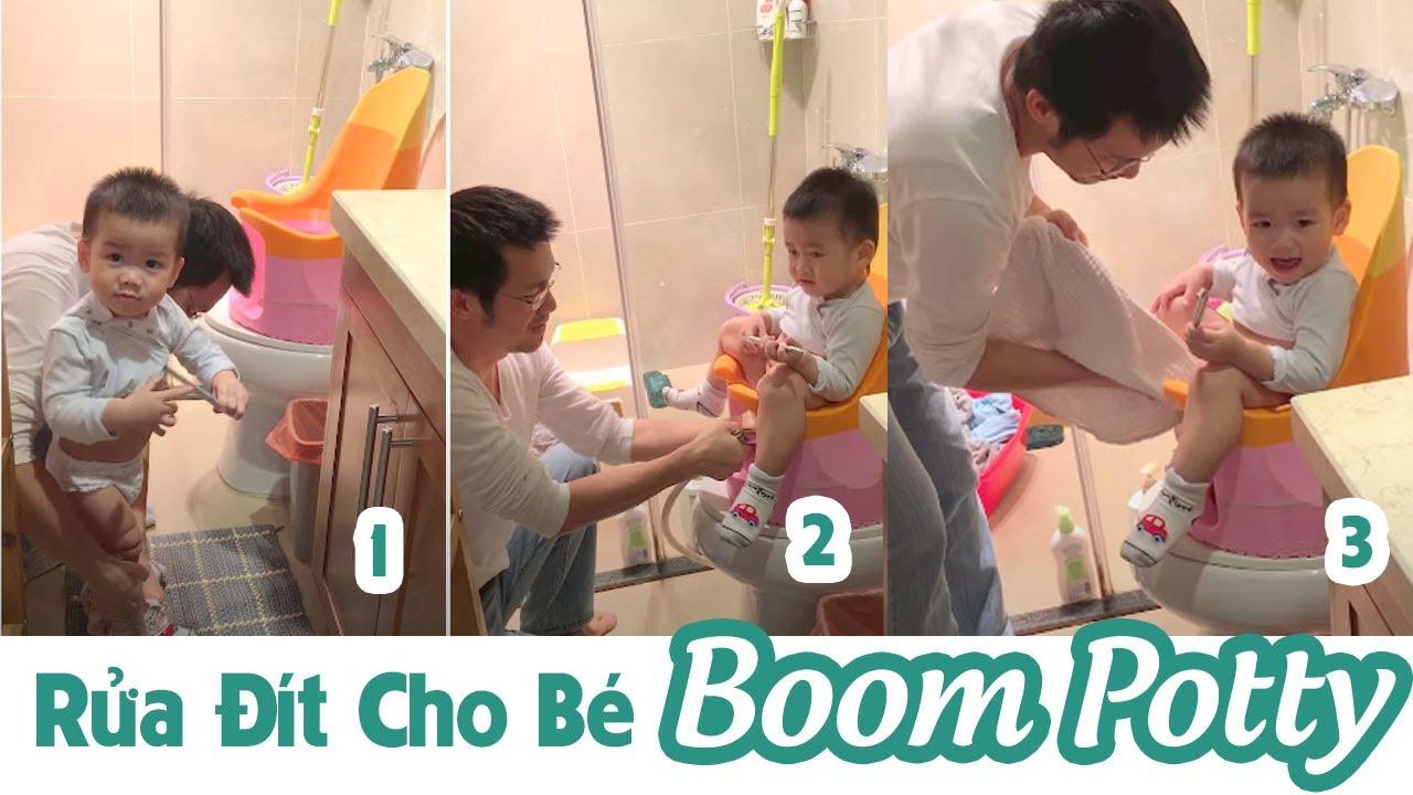 Hướng dẫn rửa đít cho con bằng bô rửa đít boompotty phiên bản đầu tiên