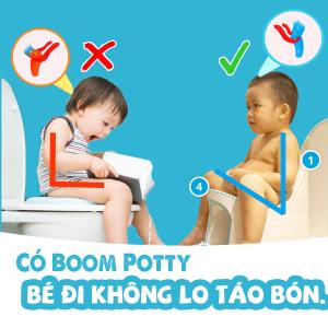 Bô vệ sinh cho bé Boom Potty có chống táo bón được không? Vì sao?