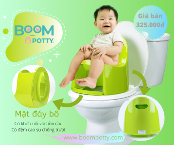 Review khách hàng sử dụng Boom Potty-bô vệ sinh cho bé từ 8 tháng đến 4 tuổi