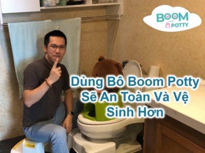 Bô rửa an toàn Boom Potty cho bé, hạn chế tiếp xúc vi khuẩn khi rửa vệ sinh?